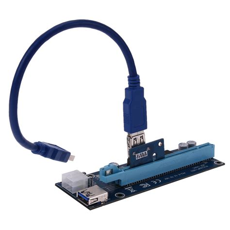 Pci E Usb 3 0 1 brand new usb 3 0 pci e express 1 x extender riser board card adapter sata 15 pin to 6 pin power