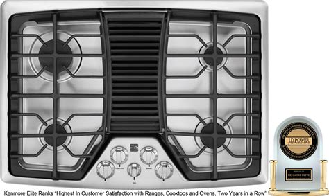 Gas Cooktop With Vent jenn air jgd8430adb 30 in gas cooktop with downdraft ventilation system sears outlet
