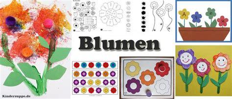 Blumen Basteln Kindergarten projekt blumen und pflanzen kindergarten und kita ideen