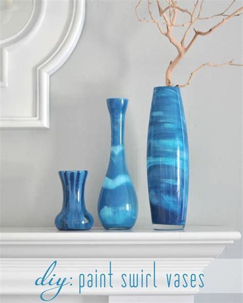 How To Paint A Vase by Paint Swirl Vases Centsational