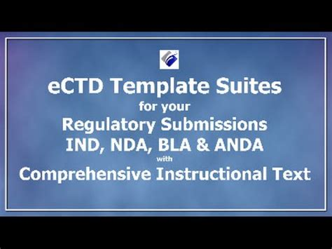 ectd templates ectd templates for advertising ind nda bla anda
