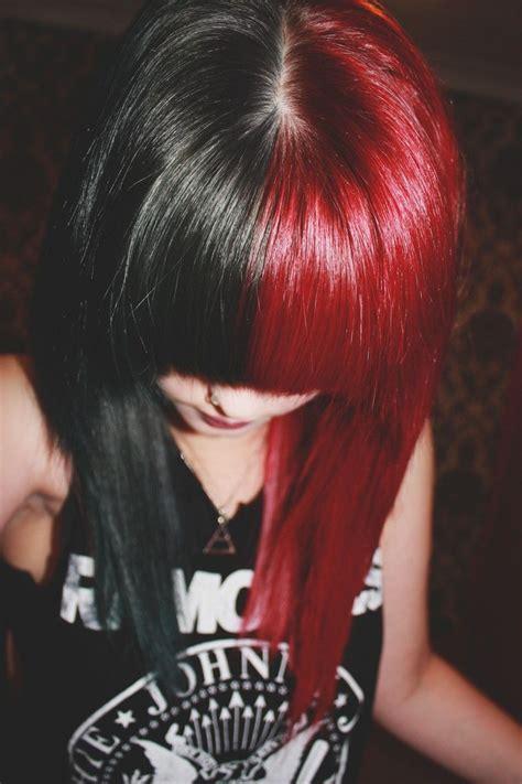 harley hairstyles black red hair harley quinn hair idea my style