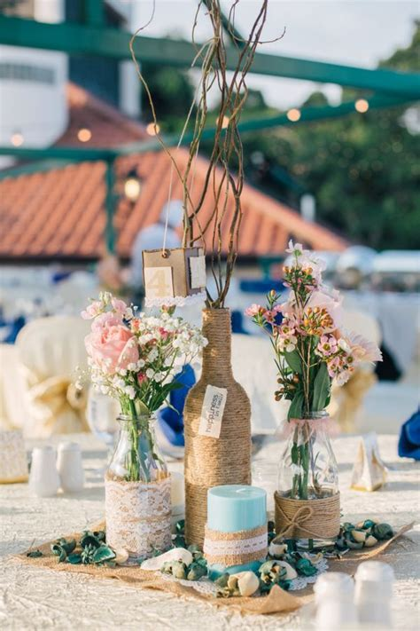 25  best ideas about Lace wedding centerpieces on