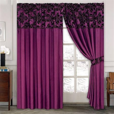 curtains and company luxury damask curtains pair of half flock pencil pleat
