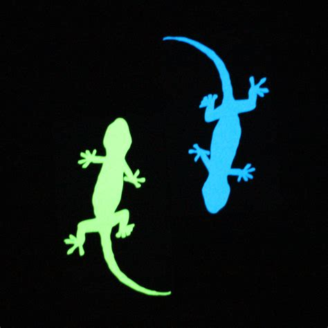 Stiker Glow In The Luminous Stickers aliexpress buy new luminous gecko sticker home decor glow in the wall gecko decals