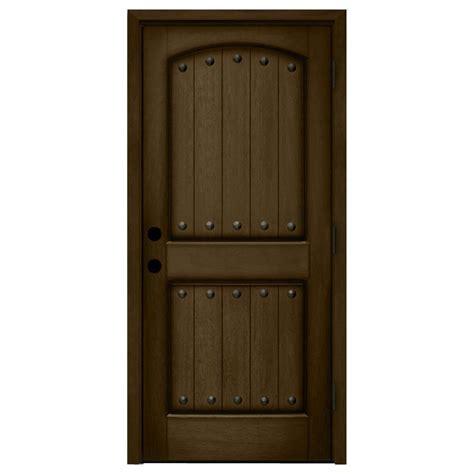 steves sons 24 in x 80 in 2 panel arch solid core oak steves sons 36 in x 80 in rustic 2 panel plank stained
