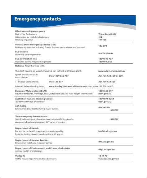 11 Sle Emergency Action Plan Templates Sle Templates Emergency Plan Template
