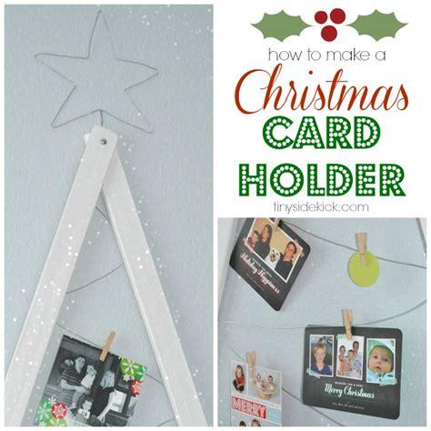 diy christmas card holder christmas card display tutorial