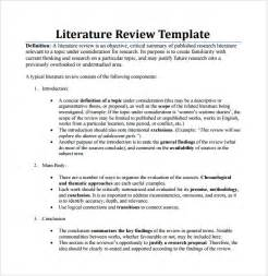 Apa Literature Review Template by Sle Literature Review Template 5 Documents In Pdf Word