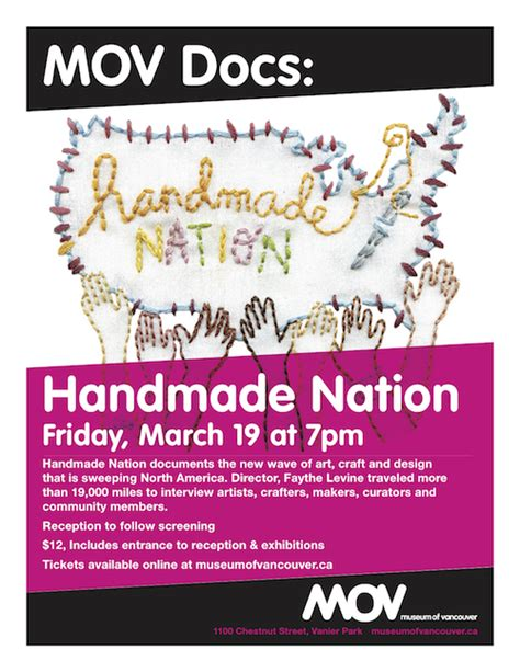 Handmade Nation Documentary - handmade nation at the museum of vancouver werker