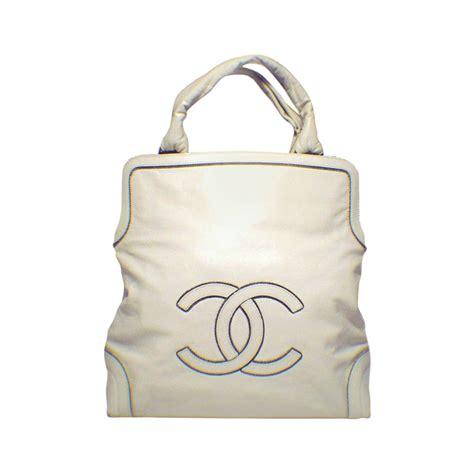 Chanel Handbag Sale by Chanel Leather Cc Chain Logo Handbag Tote For Sale