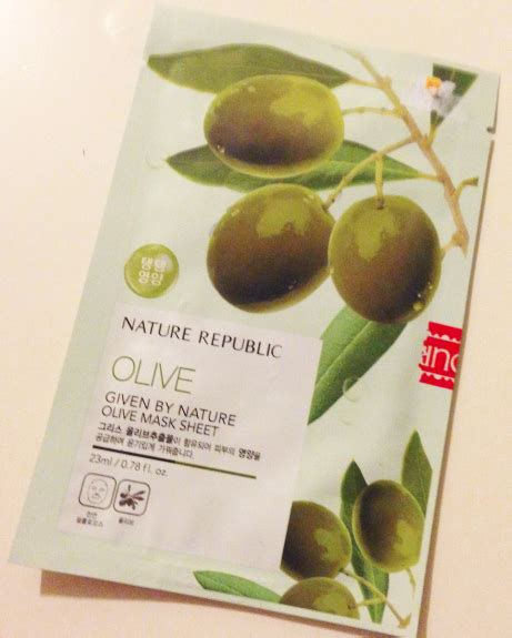 Nature Republic Olive Mask lala of surprises nature republic given by nature olive