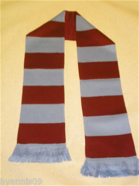 burnley football club scarf claret  blue