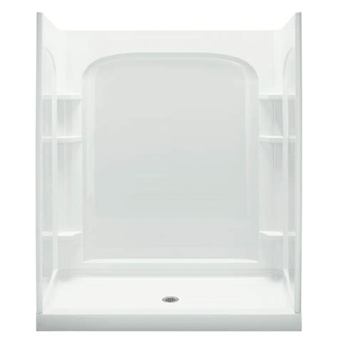 Fiber Glass 7204 shower stall kits with glass doors frameless neoangle