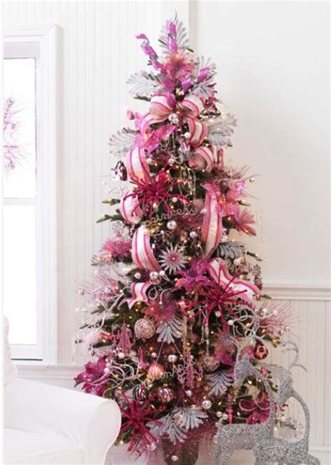 pink girly christmas tree christmas parties decor pinterest