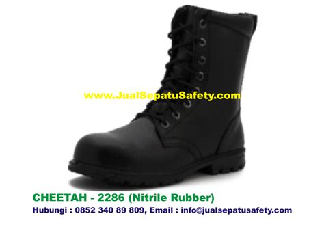 sepatu safety shoes cheetah 2286 boot bertali pdl nitrile