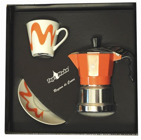 Bialetti Espresso Cup Saucer Deka top moka stove top espresso coffee maker box set with