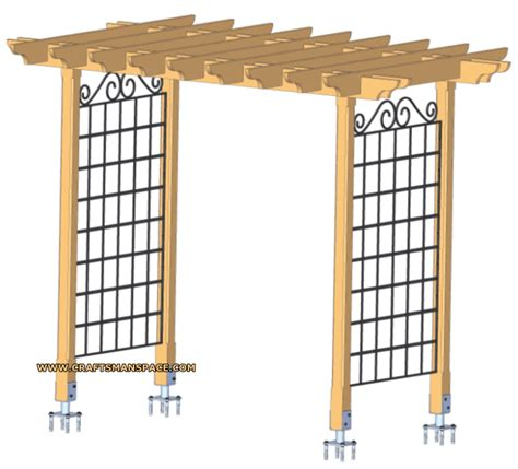 trellis plans free garden arbor project plan 504889 arbor plans howtospecialist how to build step by step diy