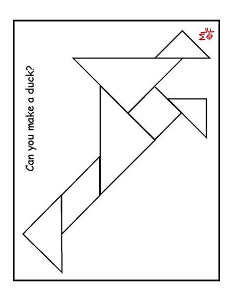 printable tangram duck tangram printable preschool farms pinterest