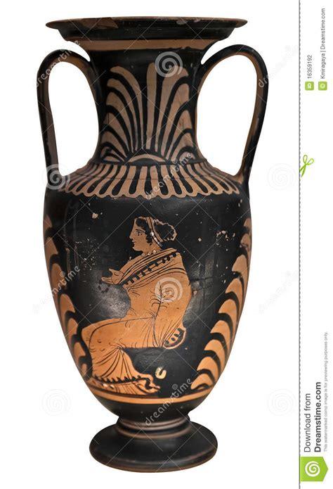 antico vaso greco vaso greco antico isolato su bianco fotografia stock