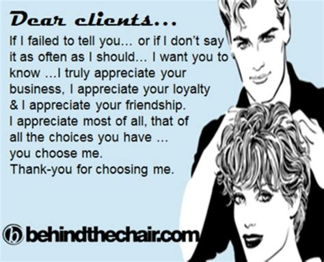 thank you quotes for clients in salon quotesgram