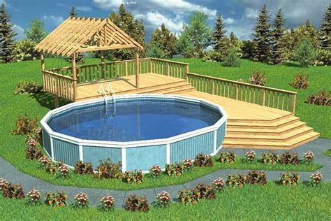 split level deck plans luxury split level pool deck with trellis project plan 90005