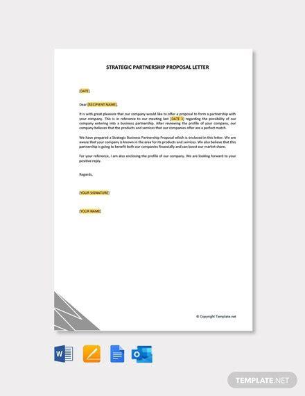 business partnership proposal letter samples templates