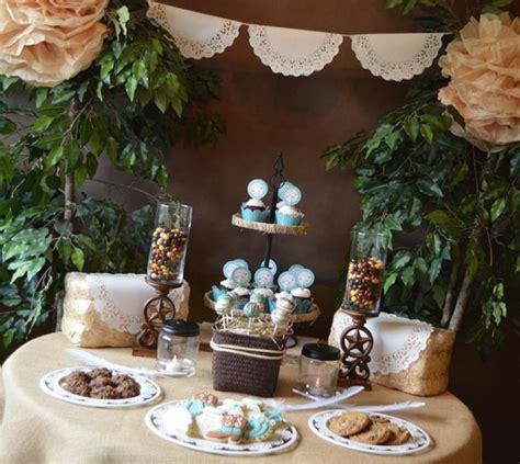 Kara's Party Ideas Shabby Chic Western Wedding Shower via