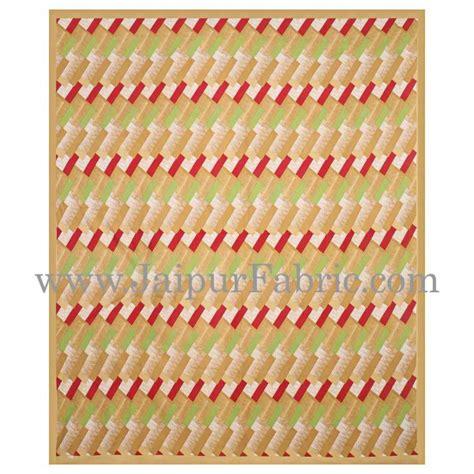 Set Satin Zigzag musturd border zig zag pattern cotton satin bed sheet