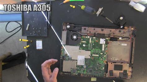 toshiba a305 laptop take apart disassemble disassembly