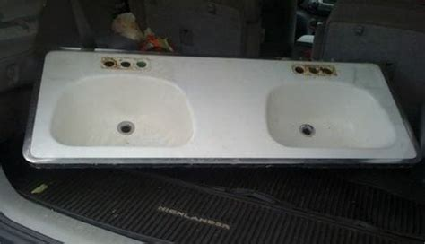 double bowl bathroom sink cast iron sink rare double bowl bathroom sink with hudee retro renovation
