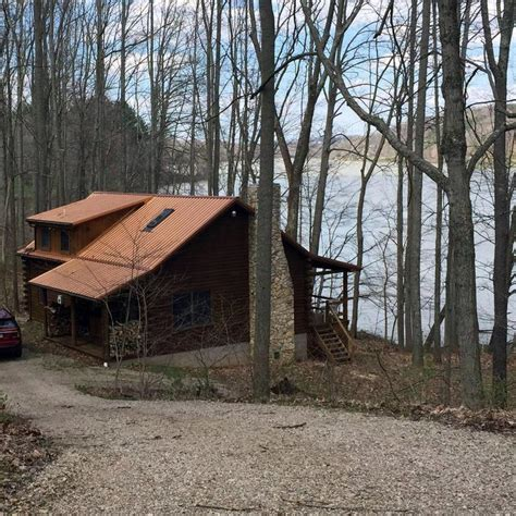 Lake Logan Cabins by Gorgeous Hocking Lake Front Cabin Right Vrbo