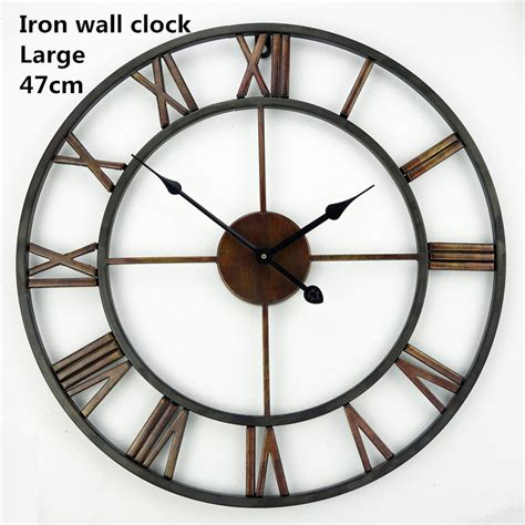 horloge murale antique aliexpress buy saat large wall clock wall clock horloge murale duvar saati digital