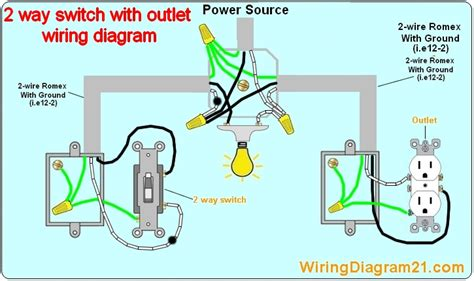 light and outlet 2way switch wiring diagram electrical