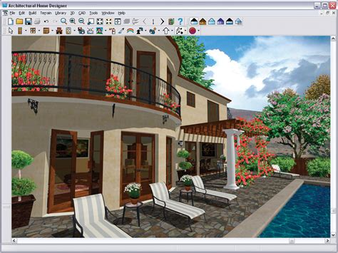 Free Patio Design Software chief architect architectural home designer 9 0 pc dvd