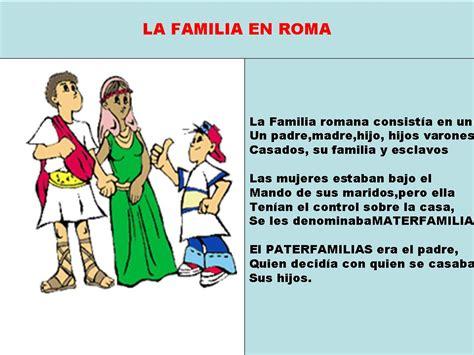 imagenes de la familia romana peques la familia romana