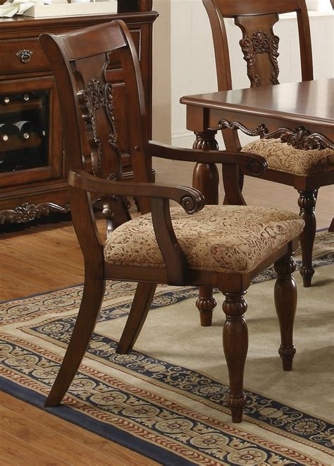 traditional cherry dining room set cherry brown finish transitional dining set