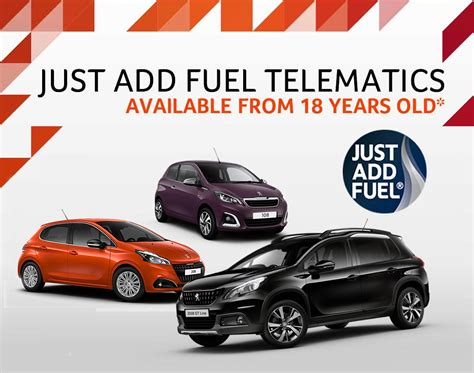peugeot just add fuel and go car deals robins day
