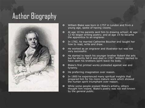 biography of william blake ppt a poison tree by william blake powerpoint
