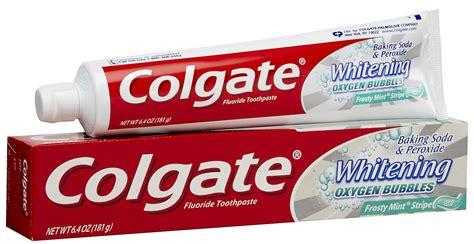 Tje Whitening Original colgate baking soda peroxide whitening oxygen bubbles frosty mint striped toothpaste gel 6 4
