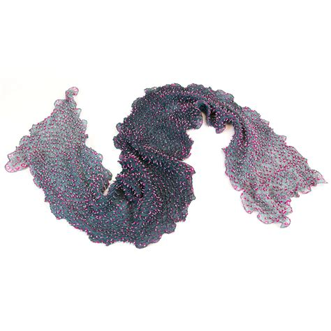 ombre double top grey ombre double top grey ombre double dot silk bandhani scarf
