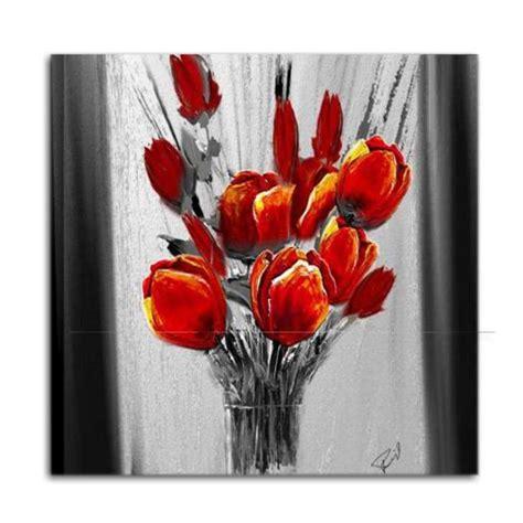 vaso con fiori quadro moderno dipinto a mano con raffigurazione di un