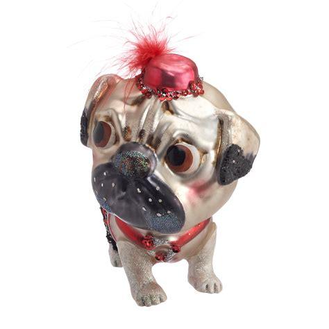 precious pug christmas ornament gump s
