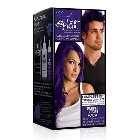 how to get splat hair dye out of hair amazon com splat rebellious fantasy complete hair color