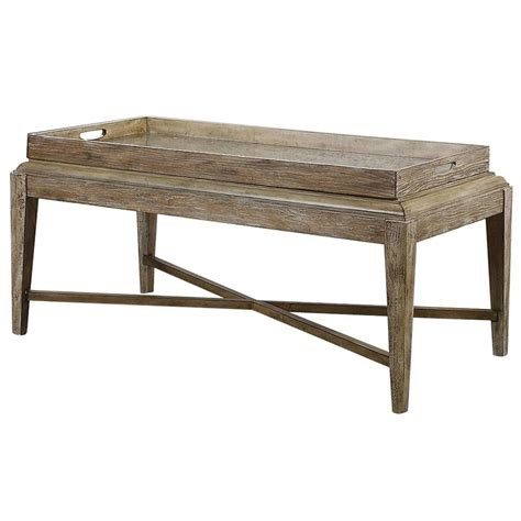 Wood For Coffee Table Rustic Lodge Antique Mirror Tray Wood Coffee Table Kathy Kuo Home