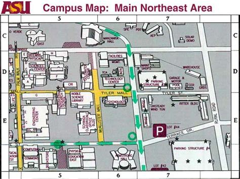 asu cus map map of asu