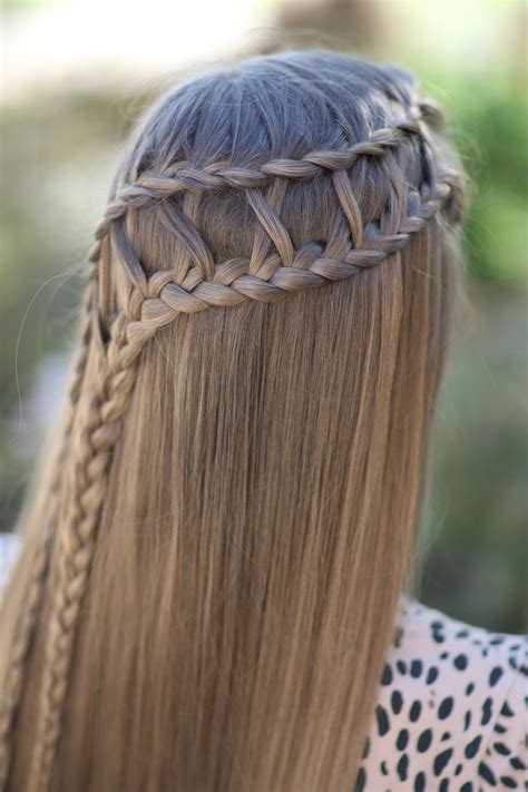lattice braid combo cute girls hairstyles