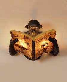 Cheap Antique Chandeliers Monkey Reading A Book Wall Sconce Lampes Pinterest