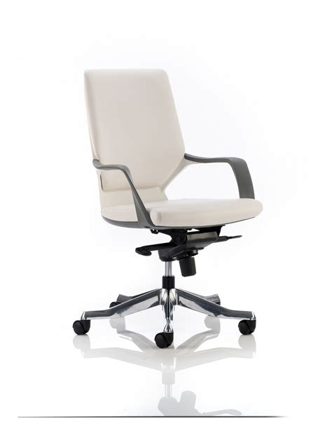white leather office chair dynamic xenon white leather executive chair with white
