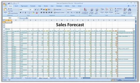 sales forecast spreadsheet exle 28 images a detailed